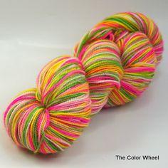 hand dyed sock yarn plied SOCK LITE for knitting crochet blend of merino wool and nylon Cherry Lips