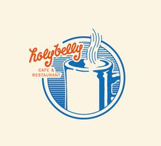 Retro diner inspired graphic for Holybelly Cafe in Paris.