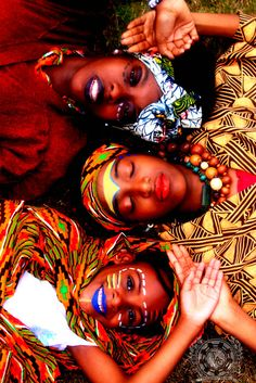 african prints- Such colorful spirits