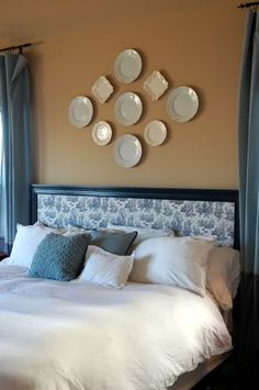 Good instructions on a DIY fabric headboard. Don't like the fabric or frame, so will use the procedure, not the look here.