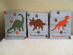 Dinosaur Wood Signs by katesSIGNdesigns on Etsy https://www.etsy.com/listing/230411608/dinosaur-wood-signs