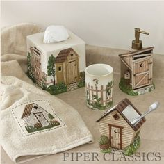Outhouses Shower Curtain - Outhouse Bathroom Decor By Linda Spivey ...