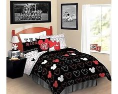 Mickey Mouse Love Complete Twin Bedding Set  - Reversable #Disney