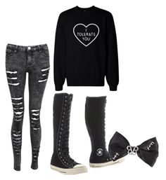 """""""Untitled #175"""" by meggershemmo1996 ❤ liked on Polyvore featuring Converse"""