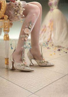 Rococo Inspired Shoes by Basia Zarzycka #rococco return