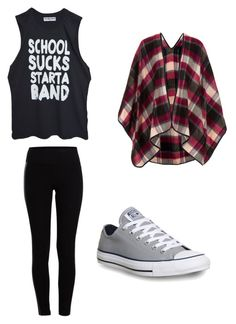 """❤"" by alyssabreur ❤ liked on Polyvore featuring Pieces, Converse and Topshop"