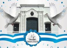 9 de Julio - Dia de la Independencia Argentina. Óptica García Carlos Calvo 1337 www.optometragarcia.com.ar Margarita, Wings, Bird, Floral, Happy, Crafts, Animals, San Martin, Headers