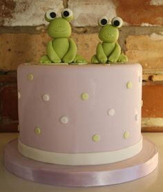 Baby shower cake for a Momma Frog to-be. #cake #babyshower
