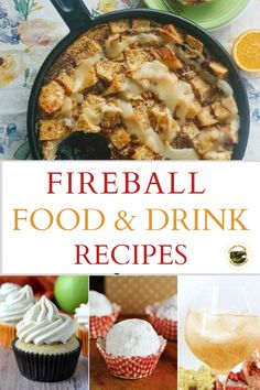 Homemade food and drink recipes using Fireball Whiskey. This cinnamon whisky is the perfect addition to bread pudding, dessert and alcoholic drinks. #fireball #whiskey #fireballrecipes #fireballwhiskeydessertrecipes #recipes Fireball Recipes, Whiskey Recipes, Drink Recipes, Baking Recipes, Dessert Recipes, Fireball Whiskey, Good Food, Yummy Food, Party Treats