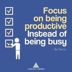Love this one from @tferris.  Being busy is a terrible feeling it is being stuck on a hamster wheel not making progress but still putting in effort.  Break out of the wheel and start doing things that grow your business that generate value! What can we do research create that will help you reach these goals? Let us know in the comments below!
