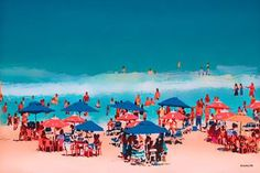 "Saatchi Art Artist ACQUA LUNA; Painting, ""33- Playa ideal."" #art"