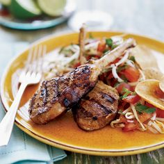 Suvir Saran thinks these sizzling, marinated chops, inspired by a recipe from the 90-year-old restaurant Karim in the Grand Mosque (Jama Masjid) area ...