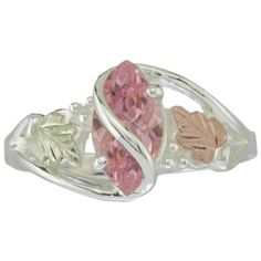 Women's Coleman® Black Hills Gold Sterling Silver Pink Cubic Zirconia Wrap Ring