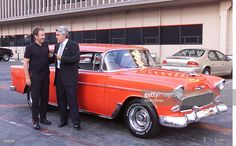 Tim Allen donated the '56 Chevy Nomad used in his sitcom 'Home Improvement' to E-Bay's 'Auction for America' on 'The Tonight Show with Jay Leno' at the NBC Studios in Los Angeles, Ca. October 4, 2001. Photo by Kevin Winter/Getty Images.