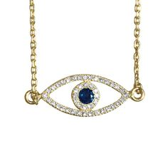 """Evil Eye Yellow Gold Diamond Bracelet, beautiful chick design. for everyday casual light diamond look. we placed at the center of the eye 0.5ct blue sapphire, best present for birthdays or new baby, the evil eye bracelet is a lucky charm protects from modern days they say """"haters"""" ;) we at silly shiny diamond we be honored to craft for you ! Here for your service at all times, click the picture for all the info , and you can email us as well, XOXOXO"""