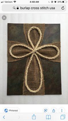 Items similar to Wood Burlap Rope Cross on Etsy – Wreath Wooden Crosses, Crosses Decor, Wall Crosses, Burlap Cross, Rustic Cross, Burlap Ribbon, Frame Crafts, Wood Crafts, Wooden Cross Crafts