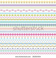 stitched border patterns