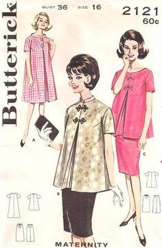 vintage #maternity pattern circa 1960