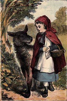 """Bruno Bettelheim, in The Uses of Enchantment, recast the Little Red Riding Hood motif in terms of classic Freudian analysis, that shows how fairy tales educate, support, and liberate the emotions of children. The motif of the huntsman cutting open the wolf, he interpreted as a """"rebirth""""; the girl who foolishly listened to the wolf has been reborn as a new person."""
