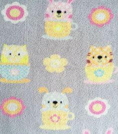 Micro Fleece Fabric Fabric-Tea Time Friends