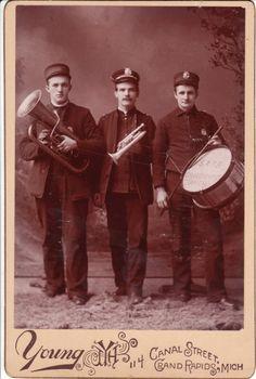 Salvation Army Band Members in Grand Rapids, Michigan