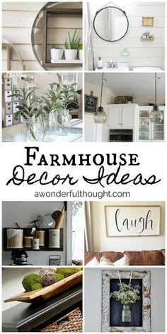 Farmhouse Decor Ideas | awonderfulthought.com