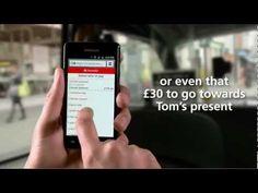 """▶ Online Banking On your mobile - Lågbudget green screenlösning med out of focus backdrop för att få det att kännas """"in situ"""""""