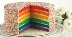 Regenbogentorte / Rainbow cake Mehr