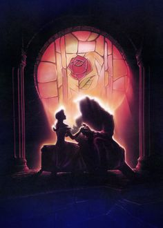 Textless Disney movie posters - Beauty and the Beast I want this as a mural on my wall as a reminder that love is blind.