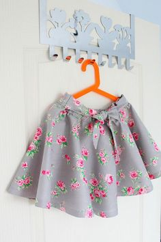Do you love the look of those twirly circle skirts? Here's how to make a circle skirt for yourself or your little girl, without having to insert a zipper.