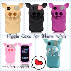 New! Cute piggie piglet earphone storage case from cellcasesusa.com