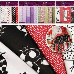 Chegaram os kits de tecidos para patchwork Coatscorrente!  Encontre no www.armarinhosaojose.com.br #artesanato #presentes #artemanual #patchwork #tecidos #costura #trabalhomanual #criatividade #handmade #feitoamao #saojosearmarinho