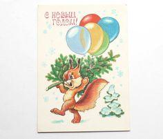 25 OFF Black Friday SALE Christmas card postcard by sovietephemera, $2.25