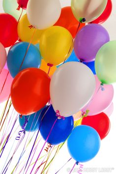 Brightly colored balloons are the perfect addition to any party!