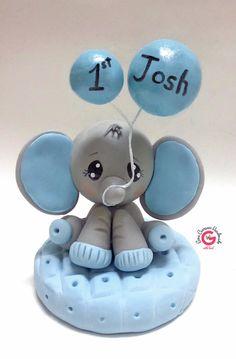 adorno de torta para baby shower elephante por GinaCarrascoHandmade