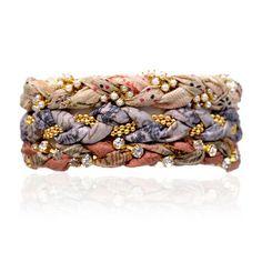 Mandalay Mix Vintage Sari Three Bracelet Stack