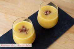 Receta de gazpacho, sopa o crema de melon con jamon