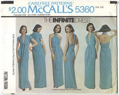 The Infinite Dress disco pattern for stretch by PatternVault