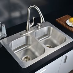 Featuring Sleek And Straightforward Styling, This Equal Bowl Kitchen Sink  Suits Any Kitchen. With