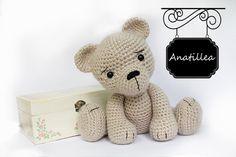 PATRÓN: Oso teddy Amigurumi oso patrón-oso-oso por Anatillea