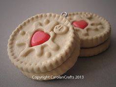 Handmade Fimo Polymer Clay Biscuit Sweet Food Charms - JAMMIE DODGERS & OREOS