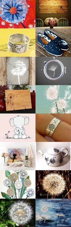 Dandelion by Brook McChessney on Etsy--Pinned with TreasuryPin.com