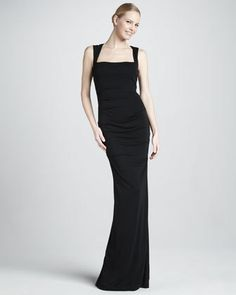 2db6b9b05ad Sleeveless Stretch-Jersey Gown by Nicole Miller at Neiman Marcus.