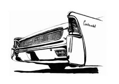 illustration of a Lincoln Continental