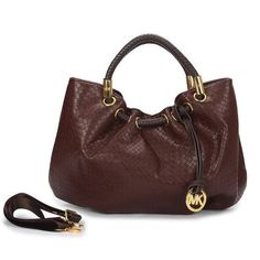 Michael Kors Ring Medium Coffee Drawstring Bags Outlet