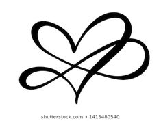Infinity Romantic symbol linked, join, passion and wedding logo. Template for t shirt, card, poster. Design flat element of valentine day. Heart With Infinity Tattoo, Tattoos Infinity, Infinity Tattoo Designs, Tribal Tattoos, Tattoos Skull, Body Art Tattoos, Tatoos, Arrow Words, Mother Son Tattoos