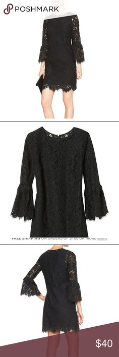 Little black lace dress Beautiful dress. Brand new never worn. Got it from banana republic factory. Love the way it fits and looks but haven't found the chance to wear it. Might keep it. Size 6 maybe 6p. Will check. Banana Republic Dresses