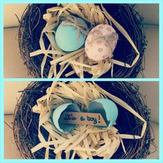 Our Easter themed gender reveal! :)