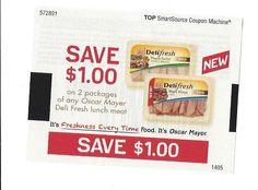 Oscar Mayer Deli Fresh Lunch Meat ~ $1.00 On TWO (2) ~ 06/01/2014