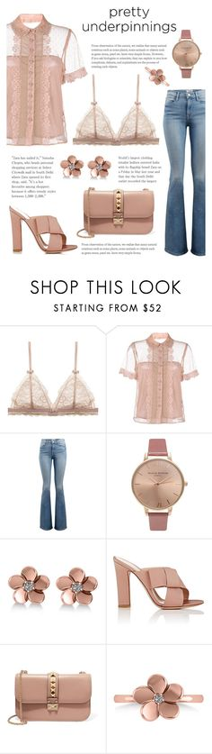 """Who's better than me?"" by martina-b33 on Polyvore featuring RED Valentino, Frame, Olivia Burton, Allurez, Gianvito Rossi and Valentino"